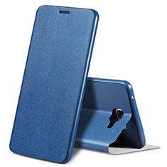Samsung Galaxy A9 (2016) A9000用手帳型 レザーケース スタンド カバー S01 サムスン ネイビー