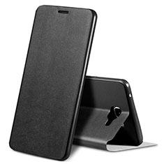 Samsung Galaxy A9 (2016) A9000用手帳型 レザーケース スタンド カバー S01 サムスン ブラック