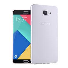 Samsung Galaxy A9 (2016) A9000用極薄ソフトケース シリコンケース 耐衝撃 全面保護 クリア透明 サムスン ホワイト