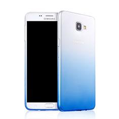 Samsung Galaxy A9 (2016) A9000用極薄ソフトケース グラデーション 勾配色 クリア透明 サムスン ネイビー