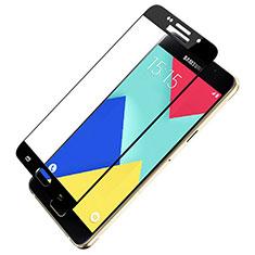 Samsung Galaxy A9 (2016) A9000用強化ガラス フル液晶保護フィルム F03 サムスン ブラック
