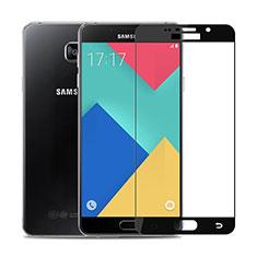 Samsung Galaxy A9 (2016) A9000用強化ガラス フル液晶保護フィルム F02 サムスン ブラック