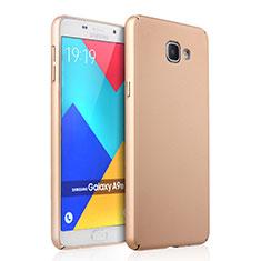 Samsung Galaxy A9 Pro (2016) SM-A9100用ハードケース プラスチック 質感もマット サムスン ゴールド