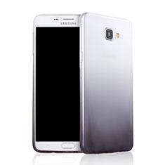 Samsung Galaxy A9 Pro (2016) SM-A9100用極薄ソフトケース グラデーション 勾配色 クリア透明 サムスン グレー