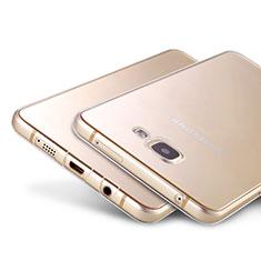 Samsung Galaxy A9 Pro (2016) SM-A9100用極薄ソフトケース シリコンケース 耐衝撃 全面保護 クリア透明 T02 サムスン クリア