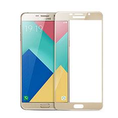 Samsung Galaxy A9 Pro (2016) SM-A9100用強化ガラス フル液晶保護フィルム サムスン ゴールド