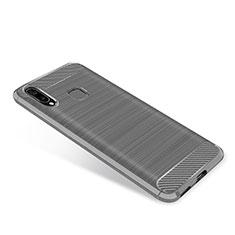 Samsung Galaxy A9 Star SM-G8850用シリコンケース ソフトタッチラバー ツイル カバー サムスン グレー
