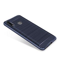 Samsung Galaxy A9 Star SM-G8850用シリコンケース ソフトタッチラバー ツイル カバー サムスン ネイビー