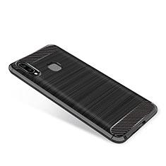 Samsung Galaxy A9 Star SM-G8850用シリコンケース ソフトタッチラバー ツイル カバー サムスン ブラック