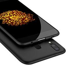 Samsung Galaxy A9 Star SM-G8850用シリコンケース ソフトタッチラバー サムスン ブラック