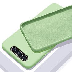 Samsung Galaxy A90 4G用360度 フルカバー極薄ソフトケース シリコンケース 耐衝撃 全面保護 バンパー C01 サムスン グリーン