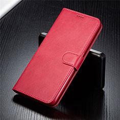 Samsung Galaxy A90 4G用手帳型 レザーケース スタンド カバー T03 サムスン レッド