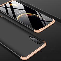 Samsung Galaxy A90 5G用ハードケース プラスチック 質感もマット 前面と背面 360度 フルカバー サムスン ゴールド・ブラック