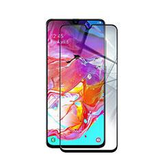Samsung Galaxy A90 5G用強化ガラス フル液晶保護フィルム サムスン ブラック