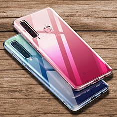 Samsung Galaxy A9s用極薄ソフトケース シリコンケース 耐衝撃 全面保護 クリア透明 T02 サムスン クリア