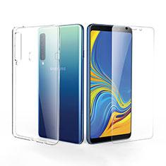 Samsung Galaxy A9s用極薄ソフトケース シリコンケース 耐衝撃 全面保護 クリア透明 アンド液晶保護フィルム サムスン クリア