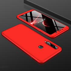 Samsung Galaxy A9s用ハードケース プラスチック 質感もマット 前面と背面 360度 フルカバー サムスン レッド