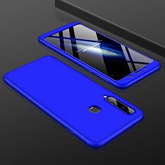 Samsung Galaxy A9s用ハードケース プラスチック 質感もマット 前面と背面 360度 フルカバー サムスン ネイビー