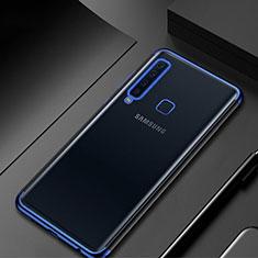 Samsung Galaxy A9s用極薄ソフトケース シリコンケース 耐衝撃 全面保護 クリア透明 H02 サムスン ネイビー