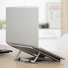 Samsung Galaxy Book Flex 15.6 NP950QCG用ノートブックホルダー ラップトップスタンド K04 サムスン シルバー