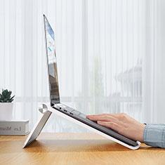 Samsung Galaxy Book Flex 15.6 NP950QCG用ノートブックホルダー ラップトップスタンド K11 サムスン シルバー