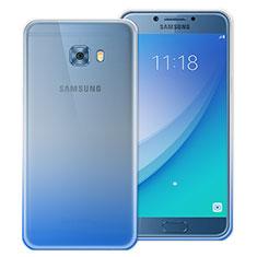 Samsung Galaxy C5 Pro C5010用極薄ソフトケース グラデーション 勾配色 クリア透明 サムスン ネイビー