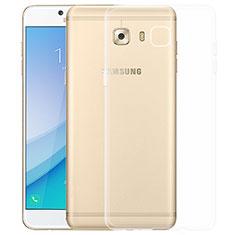Samsung Galaxy C5 Pro C5010用極薄ソフトケース シリコンケース 耐衝撃 全面保護 クリア透明 T03 サムスン クリア