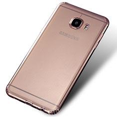 Samsung Galaxy C5 SM-C5000用極薄ソフトケース シリコンケース 耐衝撃 全面保護 クリア透明 Q02 サムスン クリア