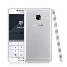 Samsung Galaxy C5 SM-C5000用極薄ソフトケース シリコンケース 耐衝撃 全面保護 クリア透明 T05 サムスン クリア