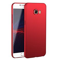 Samsung Galaxy C5 SM-C5000用ハードケース プラスチック 質感もマット M02 サムスン レッド