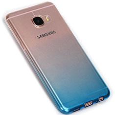 Samsung Galaxy C5 SM-C5000用極薄ソフトケース グラデーション 勾配色 クリア透明 G01 サムスン ネイビー