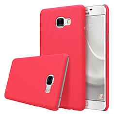 Samsung Galaxy C5 SM-C5000用ハードケース プラスチック 質感もマット M08 サムスン レッド
