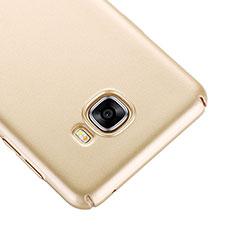 Samsung Galaxy C5 SM-C5000用ハードケース プラスチック 質感もマット サムスン ゴールド