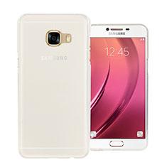 Samsung Galaxy C5 SM-C5000用極薄ソフトケース シリコンケース 耐衝撃 全面保護 クリア透明 サムスン ホワイト