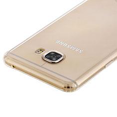 Samsung Galaxy C5 SM-C5000用極薄ソフトケース シリコンケース 耐衝撃 全面保護 クリア透明 T02 サムスン クリア