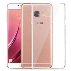 Samsung Galaxy C5 SM-C5000用極薄ソフトケース シリコンケース 耐衝撃 全面保護 クリア透明 T03 サムスン クリア