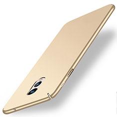 Samsung Galaxy C7 (2017)用ハードケース プラスチック 質感もマット サムスン ゴールド