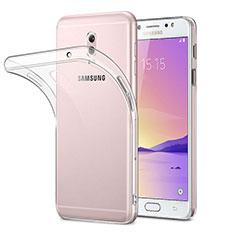 Samsung Galaxy C7 (2017)用極薄ソフトケース シリコンケース 耐衝撃 全面保護 クリア透明 サムスン クリア