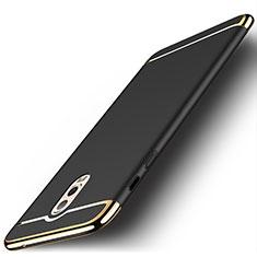 Samsung Galaxy C7 (2017)用ケース 高級感 手触り良い メタル兼プラスチック バンパー M01 サムスン ブラック