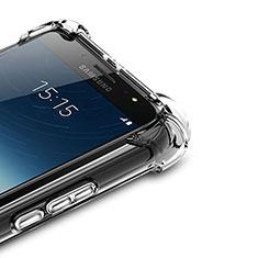 Samsung Galaxy C7 (2017)用極薄ソフトケース シリコンケース 耐衝撃 全面保護 クリア透明 T02 サムスン クリア