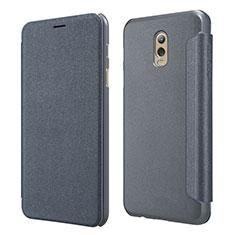 Samsung Galaxy C7 (2017)用手帳型 レザーケース スタンド L01 サムスン ブラック