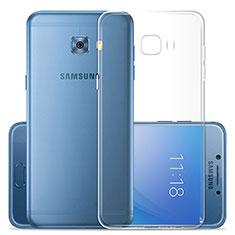 Samsung Galaxy C7 Pro C7010用極薄ソフトケース シリコンケース 耐衝撃 全面保護 クリア透明 T02 サムスン クリア