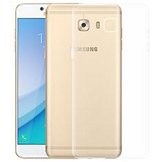 Samsung Galaxy C7 Pro C7010用極薄ソフトケース シリコンケース 耐衝撃 全面保護 クリア透明 T03 サムスン クリア