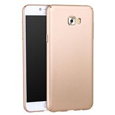 Samsung Galaxy C7 Pro C7010用ハードケース プラスチック 質感もマット サムスン ゴールド