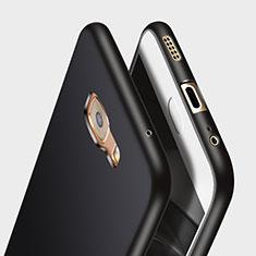 Samsung Galaxy C7 Pro C7010用シリコンケース ソフトタッチラバー サムスン ブラック