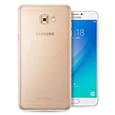 Samsung Galaxy C7 Pro C7010用極薄ソフトケース シリコンケース 耐衝撃 全面保護 クリア透明 T08 サムスン クリア