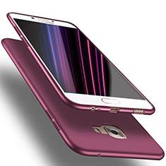 Samsung Galaxy C7 Pro C7010用極薄ソフトケース シリコンケース 耐衝撃 全面保護 S03 サムスン パープル