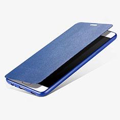 Samsung Galaxy C7 Pro C7010用手帳型 レザーケース スタンド サムスン ネイビー