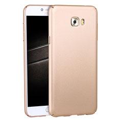 Samsung Galaxy C7 Pro C7010用ハードケース プラスチック 質感もマット M04 サムスン ゴールド