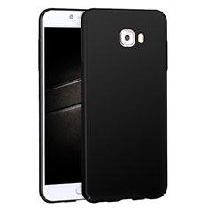 Samsung Galaxy C7 Pro C7010用ハードケース プラスチック 質感もマット M04 サムスン ブラック